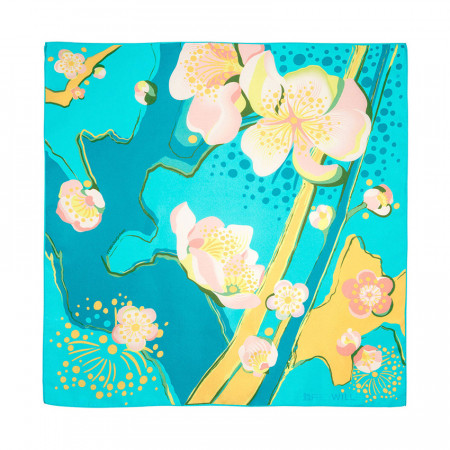 Geschenkset L'Amandier Turquoise - Spring Bracelet & Seiden-Gavroche