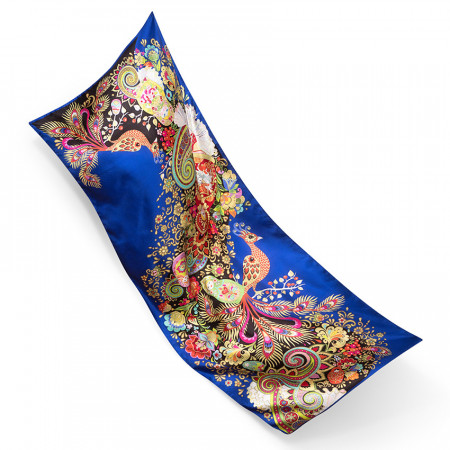 Silk Scarf All-Over Double Face Twill
