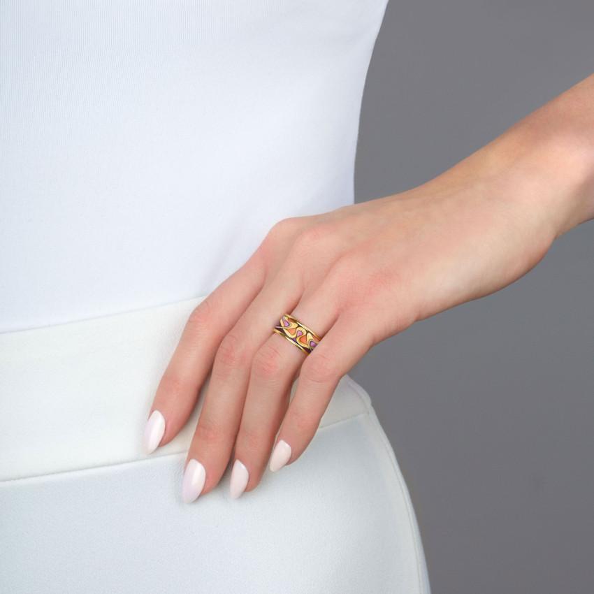 Mousseux Rouge Blanc Strass Multi-Claw Ring pour célébrations Banquet Shan