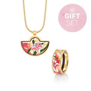 Geschenkset Polynesia - Miss Ring & Kleiner Halbmond Anhänger