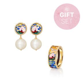 Geschenkset Orangerie - Ocean Drops Ohrringe & Miss Ring