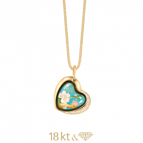 Pendant Heart with Diamonds