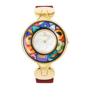 Schmuckuhr Helena / Alligator Uhrenband - rot