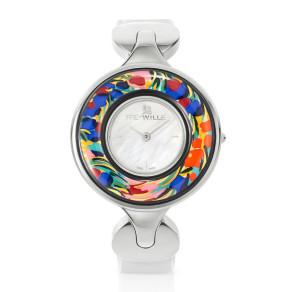 Schmuckuhr Helena / Alligator Uhrenband - weiß