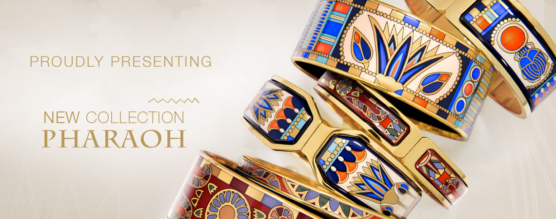 New Collection - PHARAOH - artfully deisigned fire enamel jewellery