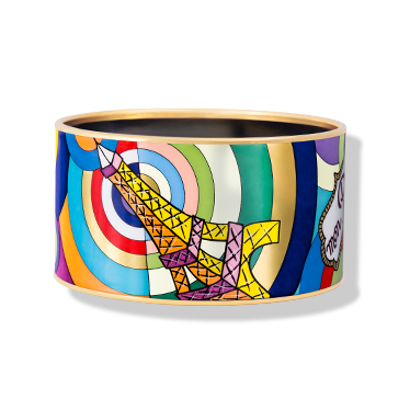 Paris POP! Bordered Bangle Diva with Eiffel Tower