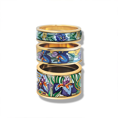 Rings from the Hommage á Claude Monet Iris collection