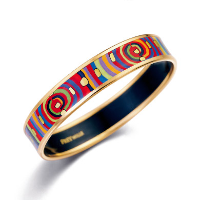 Ballerina Bangle from the Hommage á Hundertwasser Spiral of Life collection