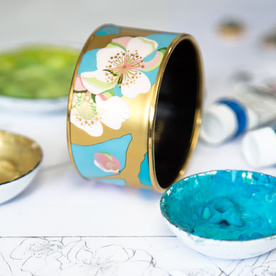 Vincent van Gogh - L'Amandier Turquoise Diva Bangle