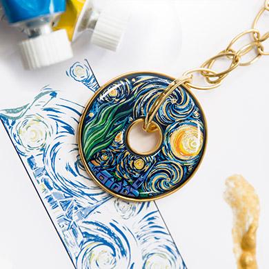 Hommage à Vincent van Gogh - Luna Piena Éternité Pendant