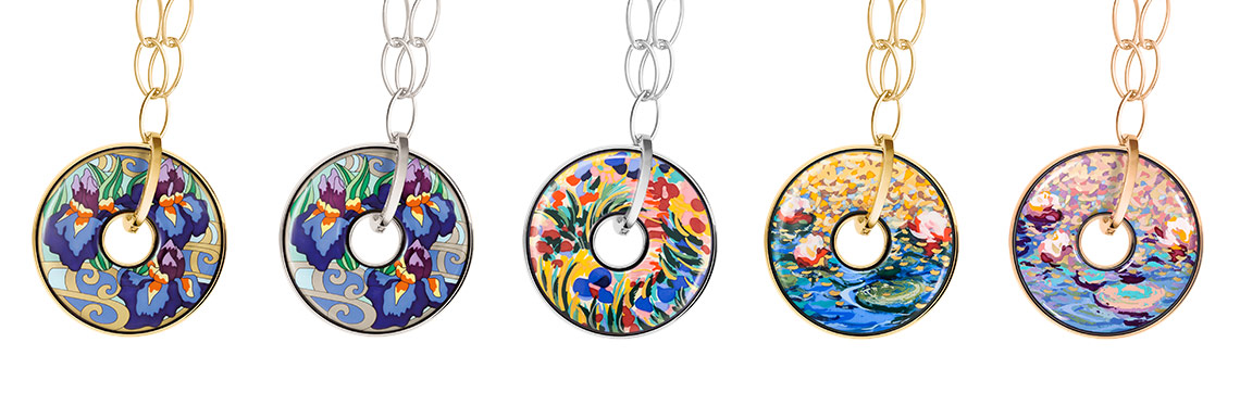 Luna Piena Pendants from the Hommage á Claude Monet Orangerie collection