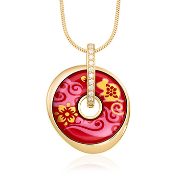 Pendant Luna Piccola with Design Chinese New Year 2020 - Year of the Rat